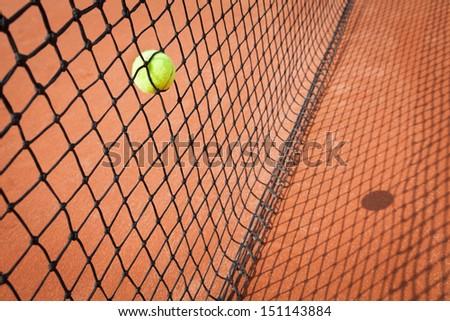 tennis ball abstract - stock photo