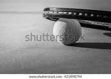 Tennis Ball and Racket. Tennis. - stock photo