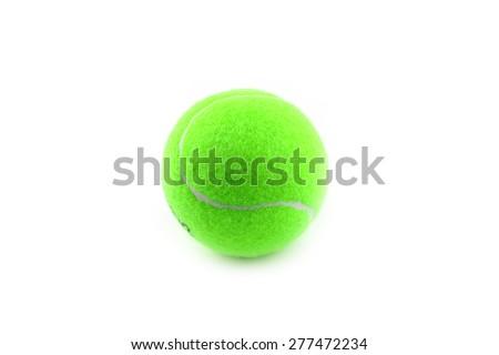 tennis ball as a part of sports equipment - stock photo