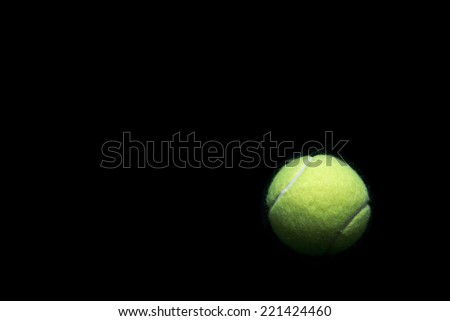 Tennis ball background and space for text