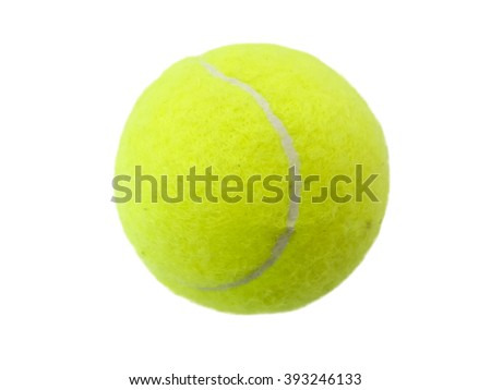 tennis ball circle yellow isolated white background
