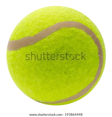 tennis ball isolated. Clipping Path