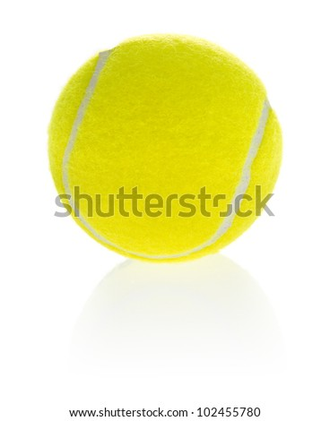 Tennis ball isolated on a white background. - stock photo