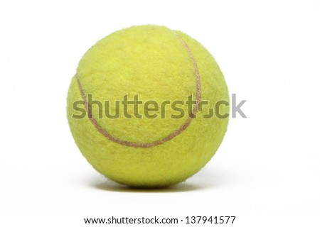Tennis ball isolated on white.