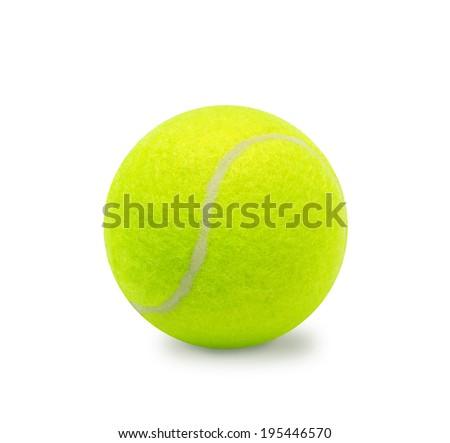Tennis ball isolated on white - stock photo