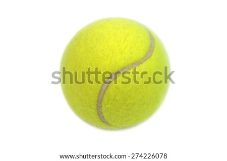 Tennis ball isolated on white background. - stock photo