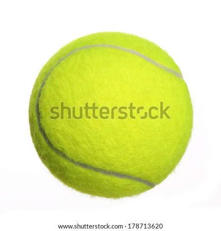 Tennis Ball isolated on white background. Closeup - stock photo