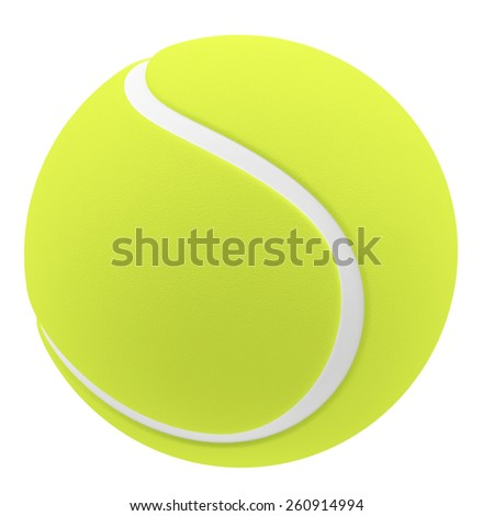 Tennis ball isolated on white background. 3d illustration high resolution - stock photo