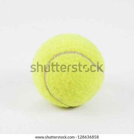 Tennis ball on isolate white background