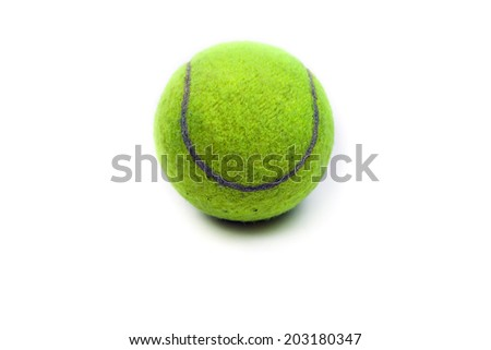 Tennis ball on the white background.