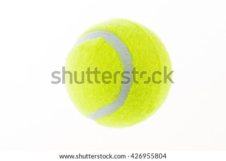 tennis ball on white background