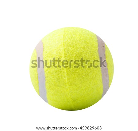 Tennis ball white background