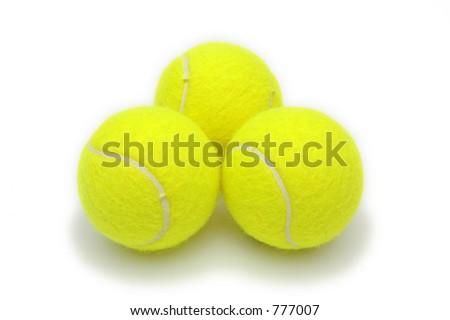 Tennis Balls Isolated - stock photo