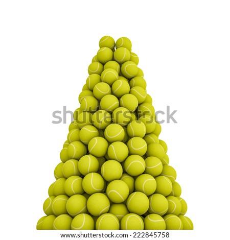 Tennis balls peak - stock photo