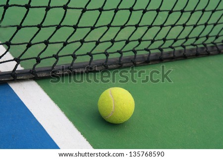 tennis concept on court - stock photo