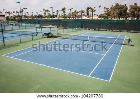 Tennis Court at tennis club - stock photo