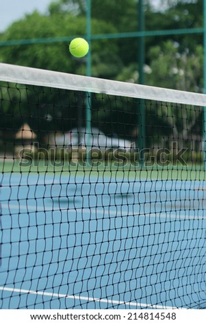 Tennis court for people to exercise for a good health - stock photo