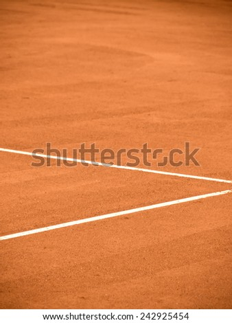 tennis court line  - stock photo