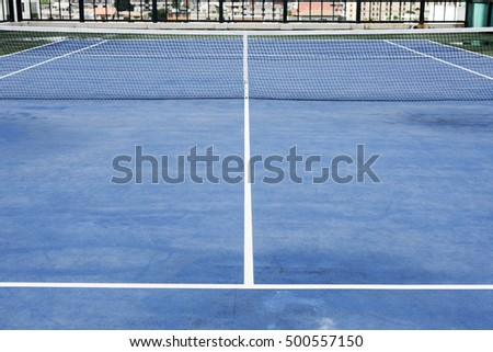 Tennis Court Sport Match Play Game Concept