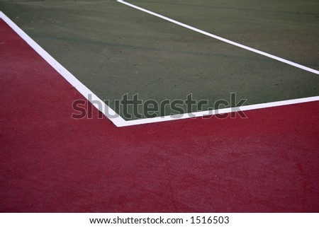 Tennis Court Up Close - stock photo