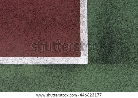Tennis field close up