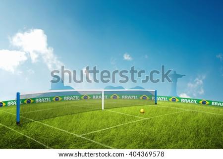 Tennis grass field  - stock photo