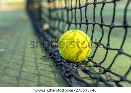 Tennis,Net. - stock photo