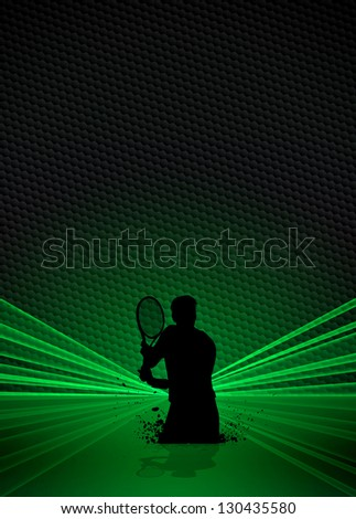 Tennis or sport business poster background with space - stock photo