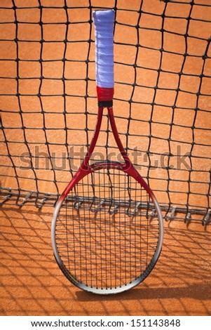 tennis racket - stock photo