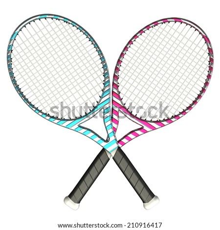 Tennis racket. isolated on white background. 3d