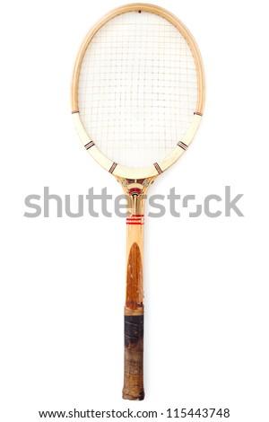 Tennis Racket - Vintage - stock photo