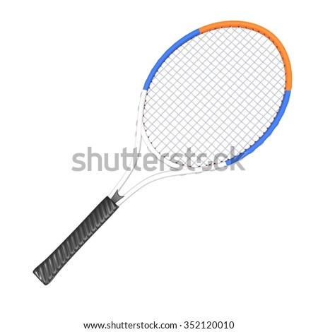 Tennis racquet - White, Blue and Orange