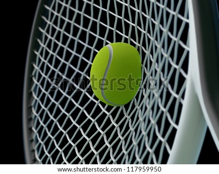 tennis smash - stock photo