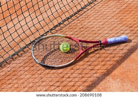 tennis, sport activity concept - stock photo