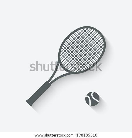 tennis sport icon - stock photo
