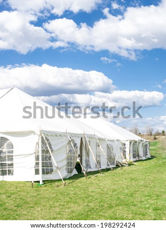 Tent for party and wedding - stock photo