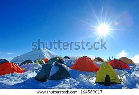 Tent on the mount