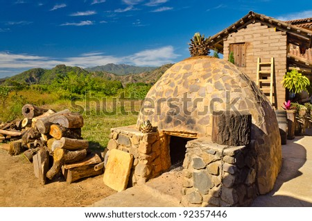 tequila production oven in San Sebastian, Mexico - stock photo