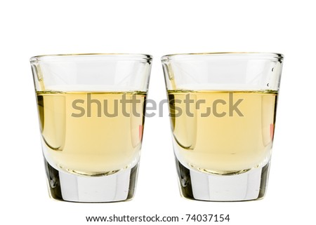Tequila shots side by side