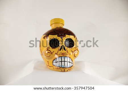 tequila yellow - stock photo