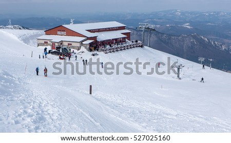 TERCHOVA, SLOVAKIA - FEBRUARY 20: Ski resort Vratna on February 20, 2016 in Terchova