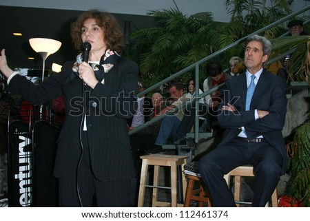 "Teresa Heinz Kerry and John Kerry at an instore event to promote the new book ""This Moment on Earth"". Duttons Brentwood, Los Angeles, CA. 04-04-07 - stock photo"