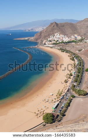 Teresitas beach in Santa Cruz de Tenerife, Canary Islands, Spain.