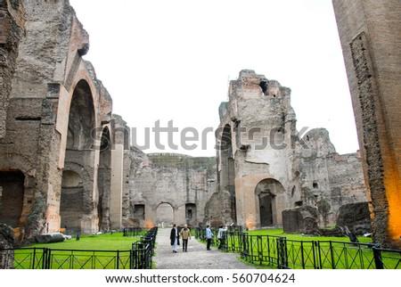Terme Di Caracalla (Baths Of Caracalla), Rome, Italy