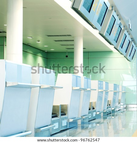 Terminal within a modern architectural style. - stock photo