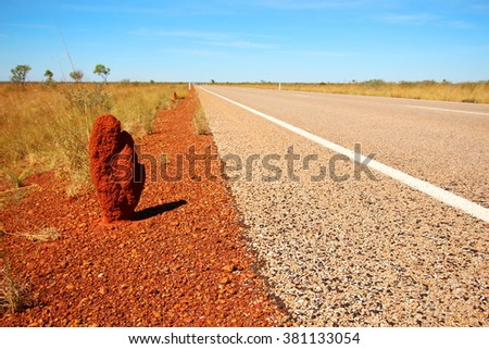 Termites in Australia - stock photo