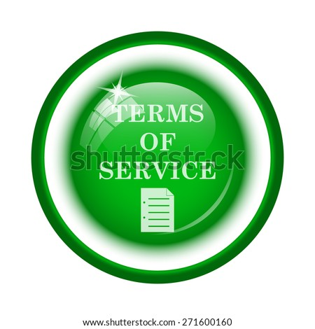 Terms of service icon. Internet button on white background.  - stock photo
