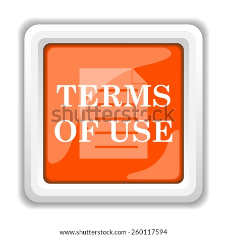 Terms of use icon. Internet button on white background.  - stock photo