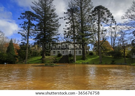 Terra Nostra thermal pool at Furnas, Sao Miguel island on Azores, Portugal