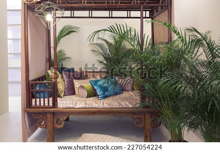 terrace decoration as home interior detail  - stock photo